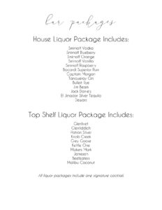 Bar Packages at Melrose Knitting Mill